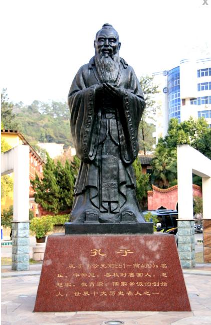 三明市第二中学孔子雕像